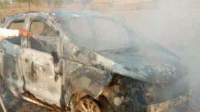 Photo of चलती कार में अचानक लगी आग ,कार जलकर खाक ,चालक सुरक्षित