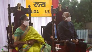 Photo of राष्ट्रपति कानपुर पहुंचते ही भाभी से मजाक करने में नहीं चूके