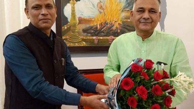 Photo of हिंदी विश्वविद्यालय के कुलपति ने की स्कूल शिक्षा मंत्री से सौजन्य भेंट
